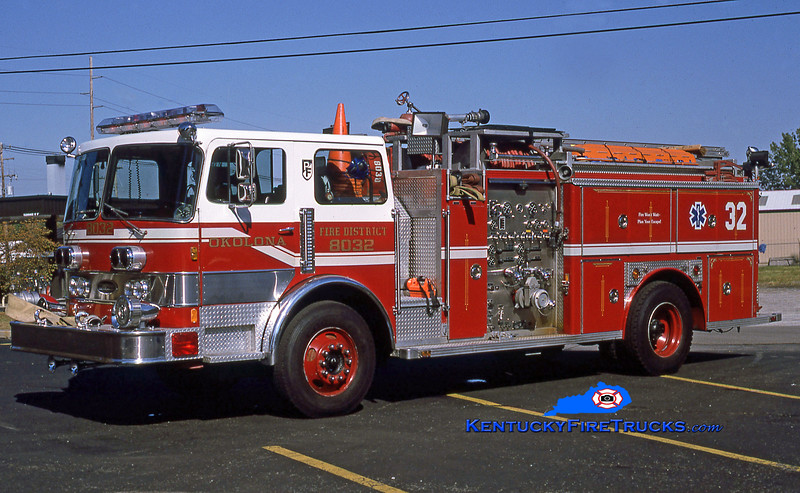 RETIRED <br /> Okolona Engine 8032 <br /> 1981 Pemfab/E-One 1500/750 <br /> Kent Parrish collection