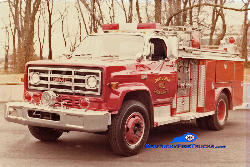 RETIRED<br /> Okolona Engine 8021<br /> 1978 GMC 6500/E-One 250/500<br /> Kent Parrish collection