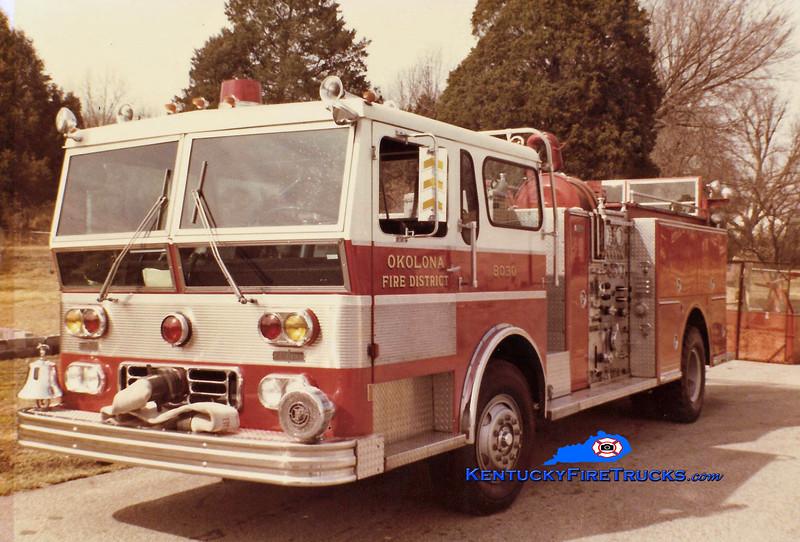 RETIRED<br /> Okolona Engine 8030<br /> 1978 Ward LaFrance Ambassador 1250/500<br /> Kent Parrish collection