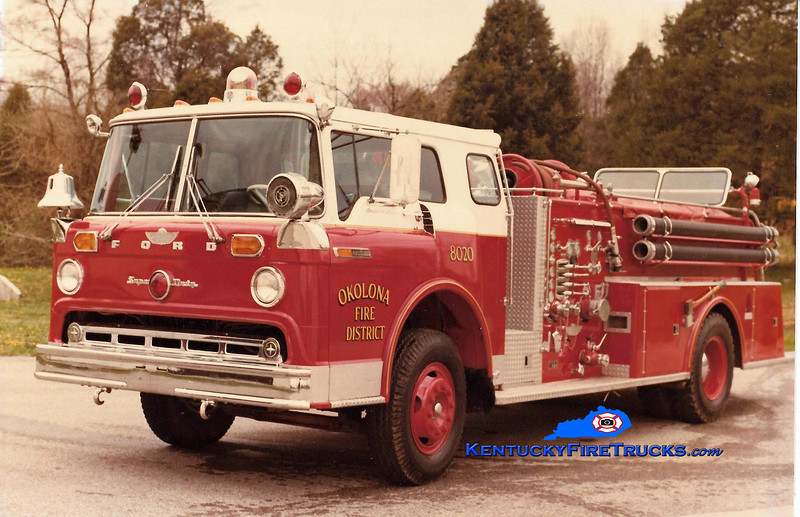 RETIRED<br /> Okolona Engine 8020<br /> x-Engine 80 <br /> 1968 Ford C-850/American 1000/500<br /> Kent Parrish collection