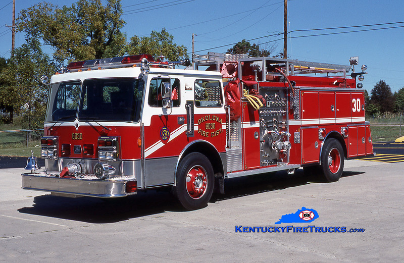RETIRED<br /> Okolona Engine 8030<br /> 1978 Ward LaFrance/1986 Pemfab/1986 American Eagle 1500/750<br /> Kent Parrish collection