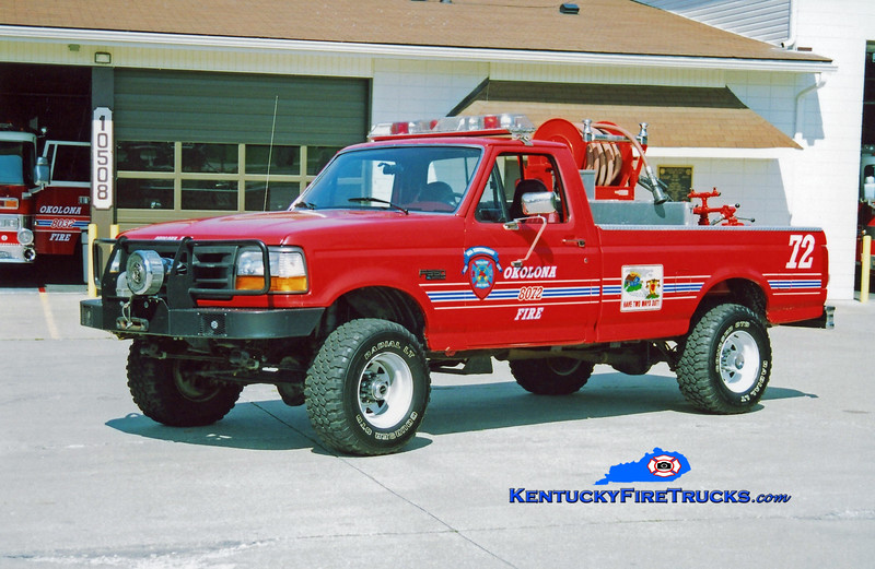 <center> Okolona Forestry 8072 <br> 1996 Ford F-350 4x4 250/200 <br> Kent Parrish photo </center>