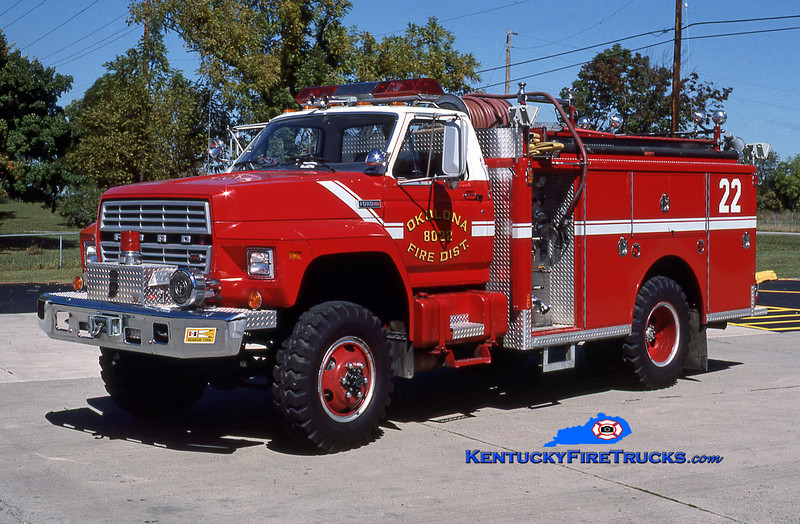 RETIRED <br /> Okolona Engine 8022<br /> 1982 Ford F-700 4x4/Indiana 250/500<br /> Kent Parrish collection