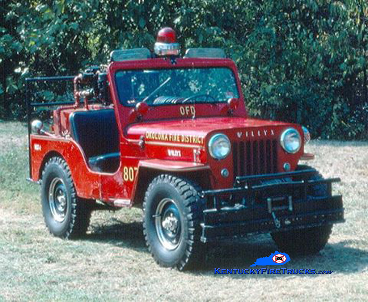 RETIRED<br /> Okolona Brush 7074 <br /> 1958 Jeep <br /> Kent Parrish collection