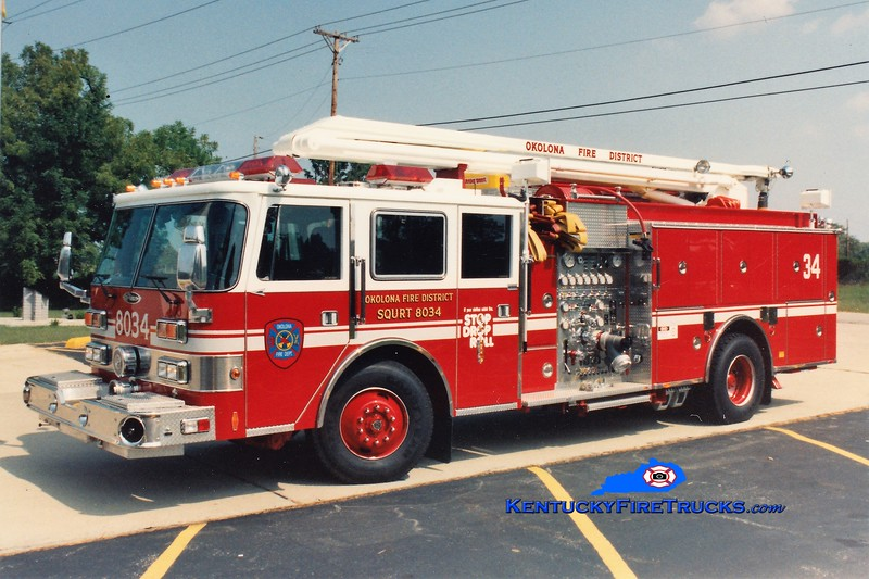 RETIRED <br /> Okolona Squrt 8034<br /> 1991 Pierce Arrow 1500/750/54' Squrt <br /> Greg Stapleton photo