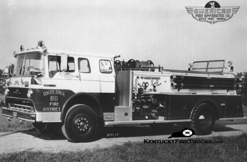 RETIRED<br /> Okolona Engine 80<br /> 1968 Ford C-850/American 1000/500<br /> Kent Parrish collection