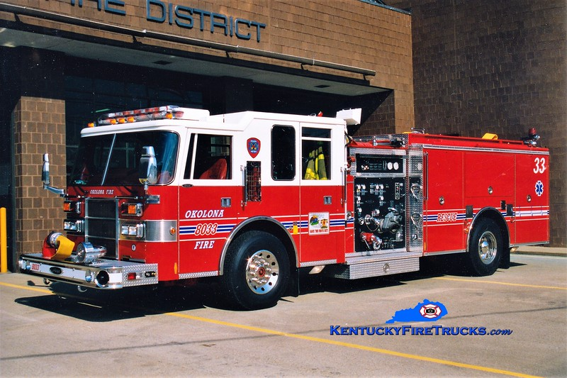 RETIRED<br /> Okolona  Engine 8033<br /> 1996 Pierce Dash 1250/500<br /> Greg Stapleton photo