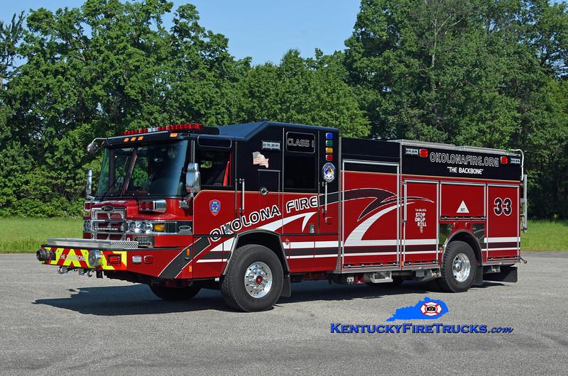 Okolona  Engine 8033<br /> 2019 Pierce Quantum 1500/500/30<br /> Kent Parrish photo