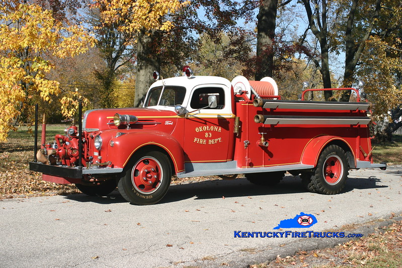 <center> ANTIQUE <br> Okolona Engine 8083 <br> 1947 Ford V-6/American Barton/Local 500/500 <br> Kent Parrish photo </center>