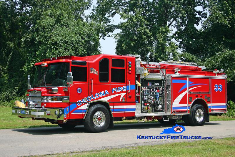 <center> Okolona  Engine 8033 <br> 2005 Pierce Quantum 2000/500/CAFS/30 <br> Kent Parrish photo </center>