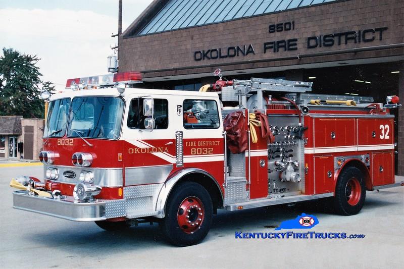 RETIRED <br /> Okolona Engine 8032 <br /> 1981 Pemfab/E-One 1500/750 <br /> Greg Stapleton photo