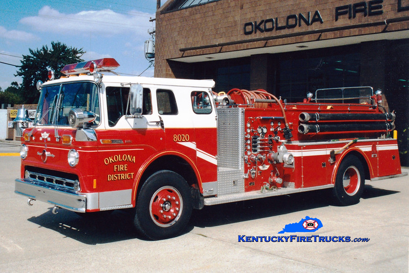 <center> RETIRED <br> Okolona Engine 8020 <br> 1968 Ford C-850/American 1000/500 <br> Greg Stapleton photo </center>