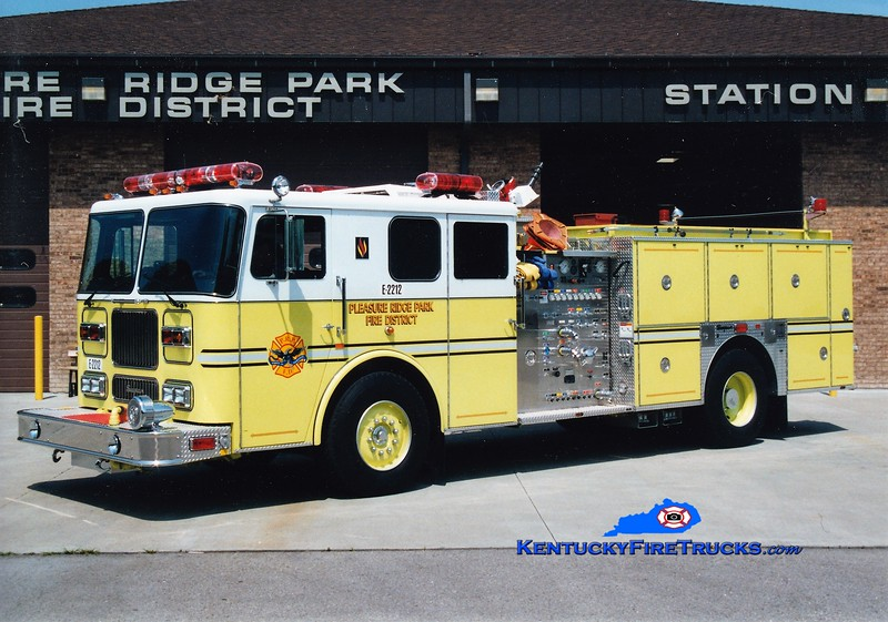 RETIRED <br /> Pleasure Ridge Park  Engine 2212<br /> 1995 Seagrave Marauder 1500/750/50<br /> Greg Stapleton photo