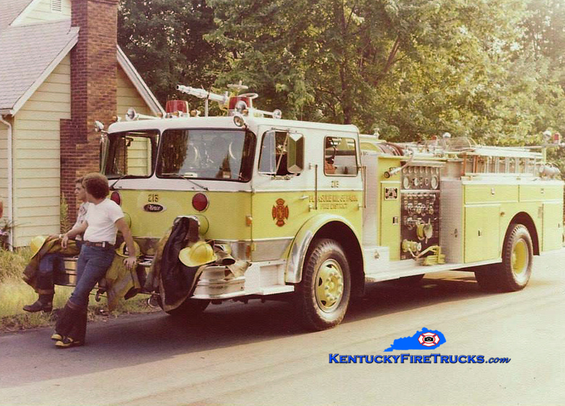RETIRED <br /> Pleasure Ridge Park  Engine 213<br /> 1976 Imperial/Pierce 1250/500<br /> Kent Parrish collection