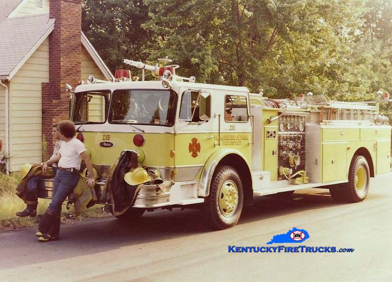 RETIRED <br /> Pleasure Ridge Park  Engine 213<br /> 1976 Imperial/Pierce 1250/500<br /> Kent Parrish collection