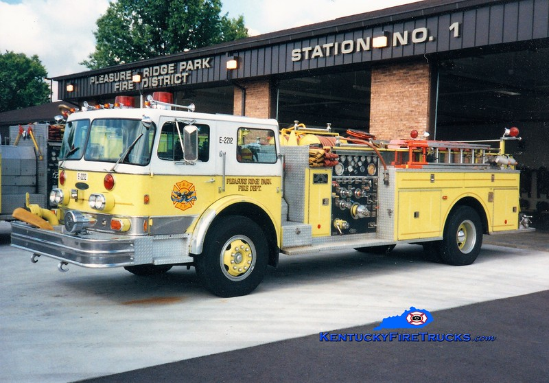 RETIRED <br /> Pleasure Ridge Park  Engine 2212<br /> x-Engine 2211 & 213 <br /> 1976 Imperial/Pierce 1250/500<br /> Greg Stapleton photo