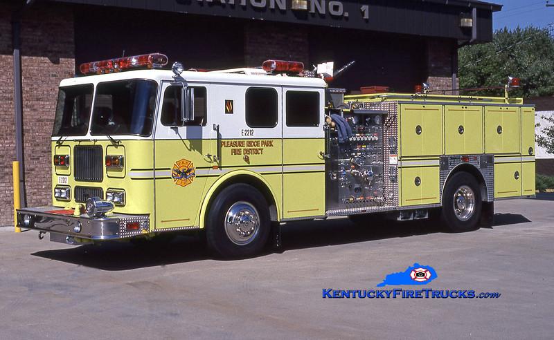 RETIRED <br /> Pleasure Ridge Park  Engine 2212<br /> 1995 Seagrave Marauder 1500/750/50<br /> Kent Parrish collection