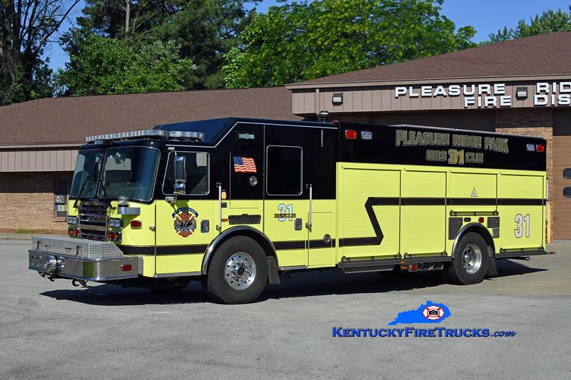 Pleasure Ridge Park  Engine 2231<br /> x-Rescue 2281 <br /> 2016 KME Severe Service 1500/500/50<br /> Kent Parrish photo
