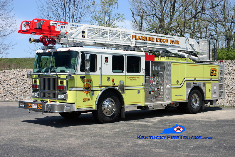 REASSIGNED <br /> Pleasure Ridge Park  Quint 2252<br /> 2008 Seagrave Marauder II 1500/500/75' Meanstick <br /> Kent Parrish photo