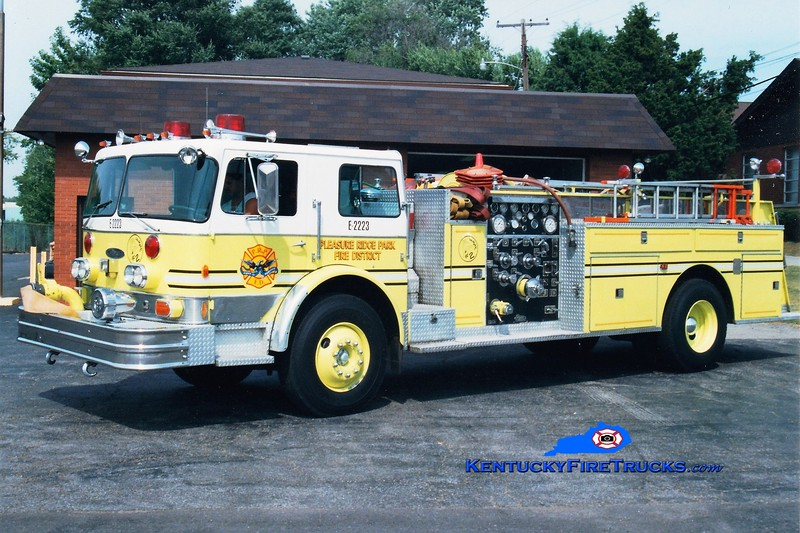 RETIRED <br /> Pleasure Ridge Park  Engine 2223<br /> x-Engine 2212, 2211, and 213 <br /> 1976 Imperial/Pierce 1250/500<br /> Greg Stapleton photo