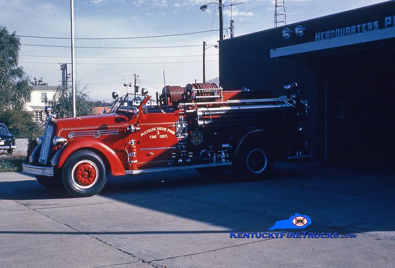 RETIRED<br /> Pleasure Ridge Park Engine 3 <br /> x-Jefferson County FD <br /> 1947 Seagrave 750/500<br /> Kent Parrish collection