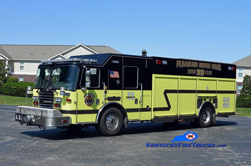 Pleasure Ridge Park  Engine 2233<br /> x-Rescue 2288<br /> 2016 KME Severe Service 1500/500/50<br /> Kent Parrish photo