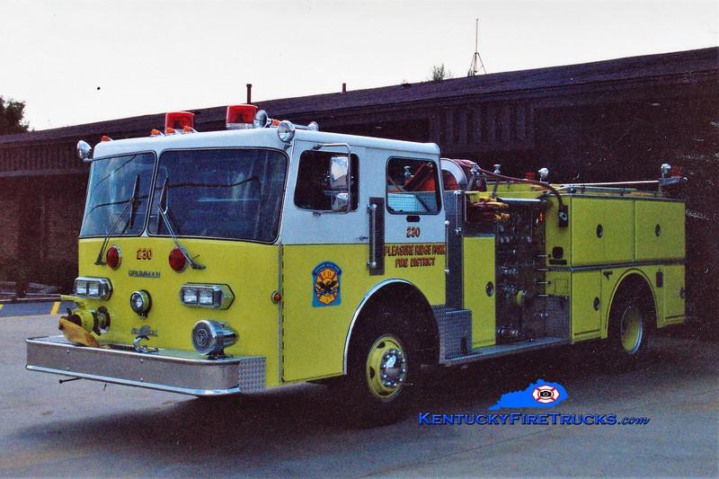 RETIRED <br /> Pleasure Ridge Park  Engine 230<br /> 1982 Duplex D-350/Grumman 1250/750 <br /> Greg Stapleton photo