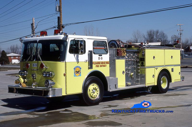 RETIRED <br /> Pleasure Ridge Park  Engine 3<br /> x-Engine 230<br /> 1982 Duplex D-350/Grumman 1250/750 <br /> Kent Parrish collection