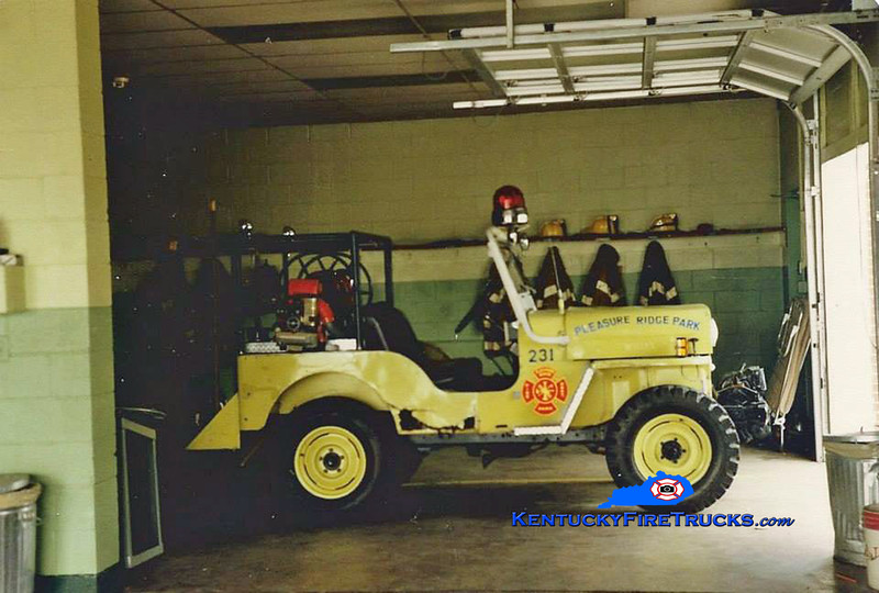 RETIRED<br /> Pleasure Ridge Park Forestry 231<br /> 1959 Jeep Willys 4x4<br /> Kent Parrish collection