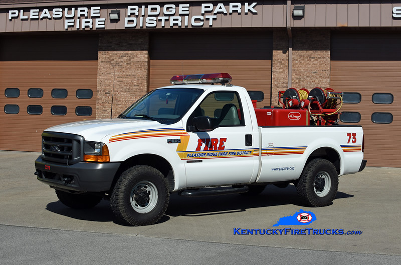 REASSIGNED<br /> Pleasure Ridge Park Forestry 2273<br /> 1999 Ford F-250 4x4/Marco HP/150<br /> Kent Parrish photo
