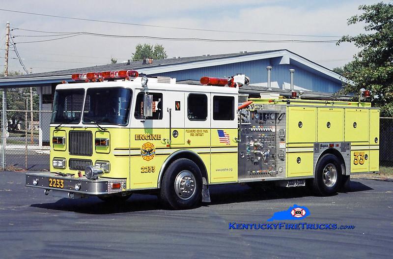 RETIRED <br /> Pleasure Ridge Park  Engine 2233<br /> 1996 Seagrave Marauder 1500/750/50<br /> Kent Parrish photo