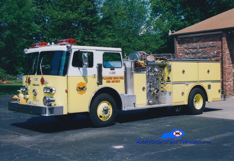 RETIRED <br /> Pleasure Ridge Park  Engine 2243<br /> 1982 Duplex D-350/Grumman 1250/750<br /> Greg Stapleton photo