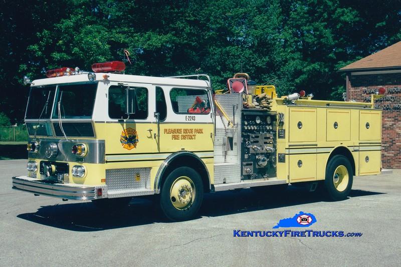 RETIRED <br /> Pleasure Ridge Park  Engine 2243<br /> x-Engine 2262 <br /> 1978 Ward LaFrance Ambassador 1750/500/Quad <br /> Greg Stapleton photo
