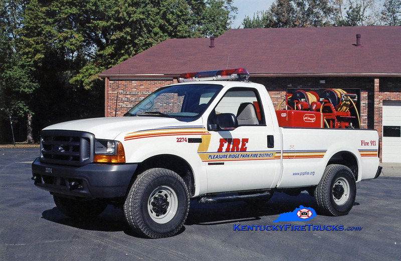 REASSIGNED<br /> Pleasure Ridge Park Forestry 2274<br /> 1999 Ford F-350 4x4/Marco 150/200<br /> Kent Parrish photo