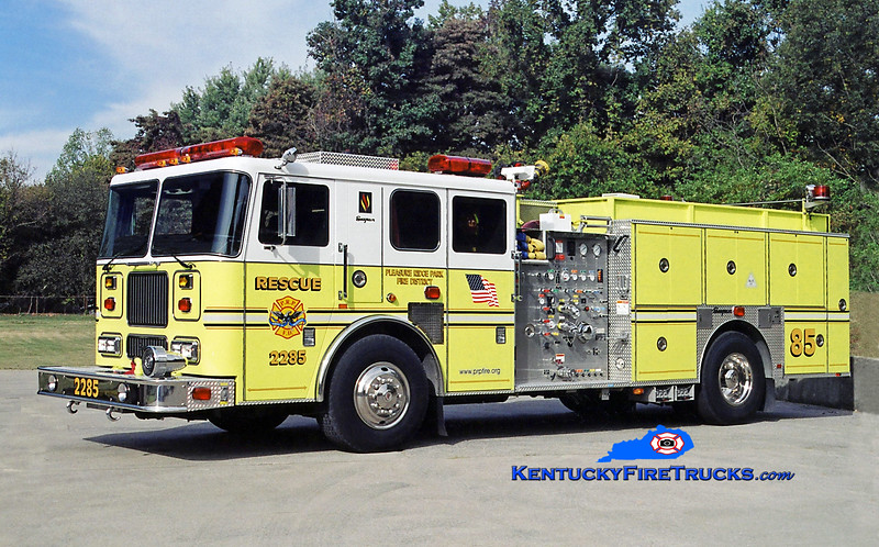 REASSIGNED <br /> Pleasure Ridge Park  Rescue 2285<br /> 2003 Seagrave Marauder 1500/750/50<br /> Kent Parrish photo