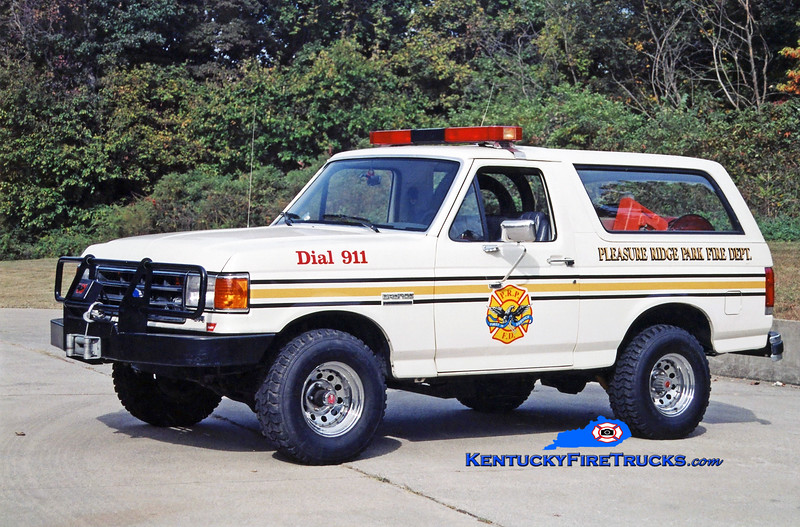 RETIRED <br /> Pleasure Ridge Park Forestry 2275<br /> 1989 Ford Bronco 4x4 HPP/100<br /> Kent Parrish photo