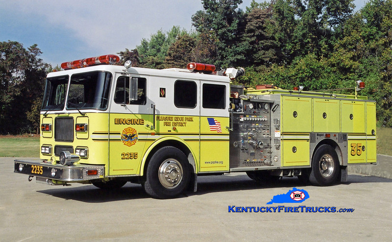 RETIRED <br /> Pleasure Ridge Park  Engine 2235<br /> 1995 Seagrave Marauder 1500/750/50<br /> Kent Parrish photo