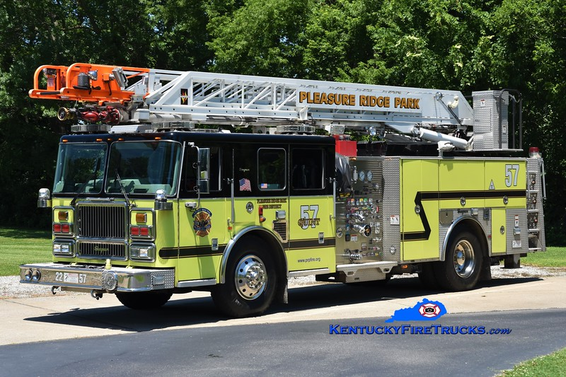 REASSIGNED <br /> Pleasure Ridge Park  Quint 2257<br /> 2008/2017 Seagrave Marauder II 1500/500/75'<br /> Greg Stapleton photo
