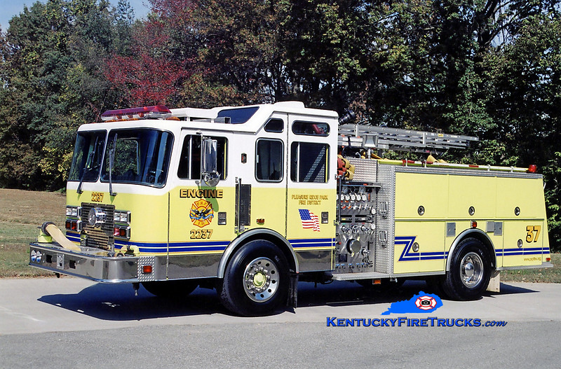 RETIRED<br /> Pleasure Ridge Park  Engine 2237<br /> x-South Dixie, KY<br /> 1993 KME Renegade 1500/750<br /> Kent Parrish photo