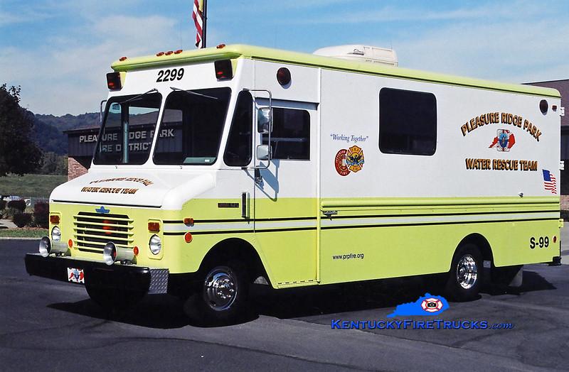 RETIRED<br /> Pleasure Ridge Park Support 2299<br /> 1982 Chevy/Grumman-Olson Water Rescue Unit<br /> Kent Parrish photo