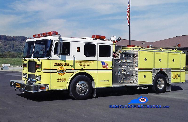 RETIRED <br /> Pleasure Ridge Park Rescue 2286<br /> 1995 Seagrave Marauder 1500/750/50<br /> Kent Parrish photo