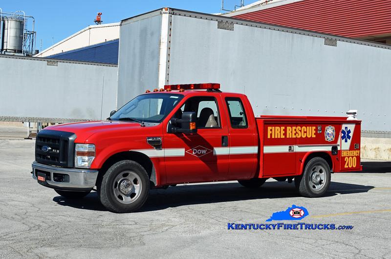 Dow Chemical Co-Louisville Rohm & Haas Plant Rescue 4<br /> 2008 Ford F-350 4x4/Knapheide<br /> Kent Parrish photo