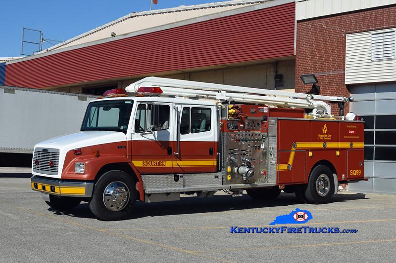 Dow Chemical Co-Louisville Rohm & Haas Plant Squrt 99<br /> x-Bristol (PA) Rohm & Haas Plant <br /> 1996 Freightliner FL80/National Foam 1250/250/500F/54' Squrt<br /> Kent Parrish photo