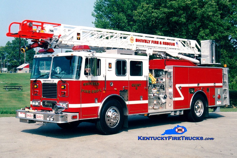 <center> Shively  Auxiliary Quint 125 <br> x-Quint 25 <br> 2001 Seagrave Marauder Meanstick 1500/500/75' <br> Greg Stapleton photo  </center>