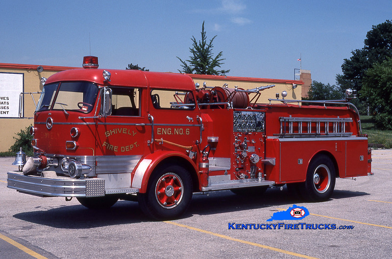 RETIRED<br /> Shively Engine 6<br /> 1966 Mack C 1000/500<br /> Kent Parrish collection