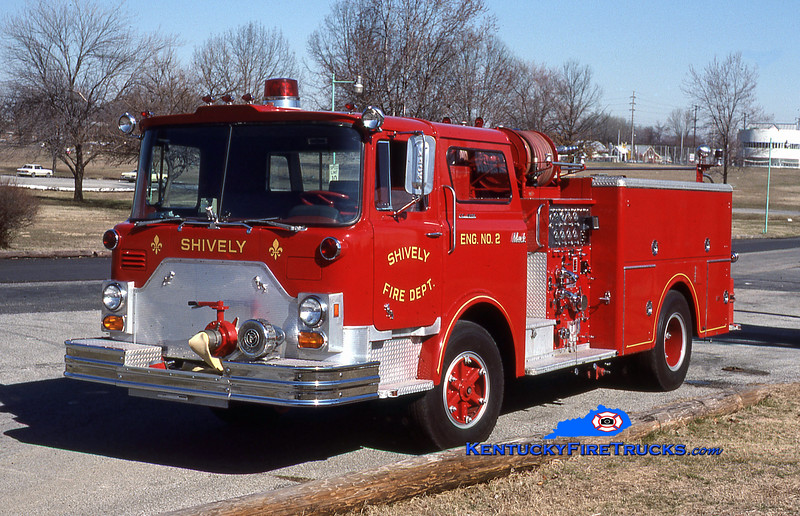 RETIRED<br /> Shively Engine 2<br /> 1974 Mack CF 1000/500<br /> Kent Parrish collection