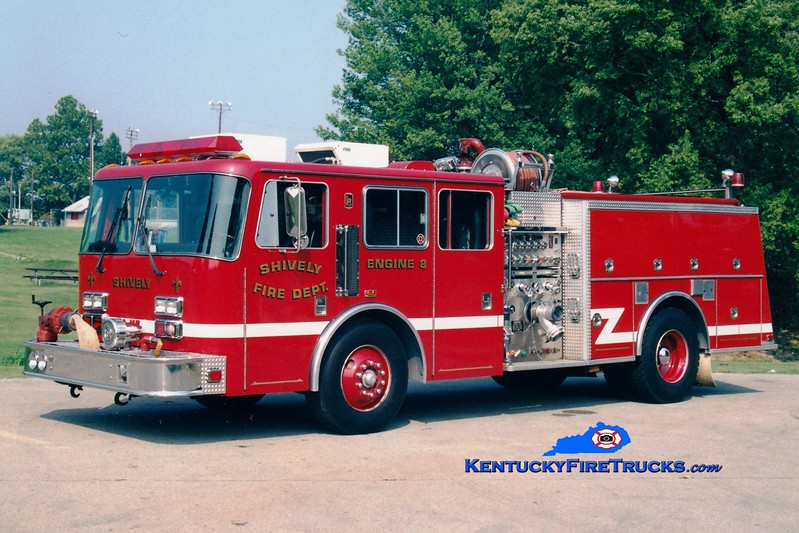 <center> Shively  Auxiliary Engine 125 <br> x-Engine 8 <br> 1994 KME Firefox 1250/500 <br> Greg Stapleton photo  </center>