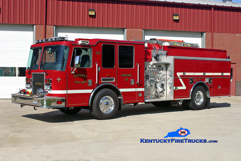 <center> Shively  Engine 25 <br> 2008 KME Predator 1250/500/20 <br> Kent Parrish photo  </center>