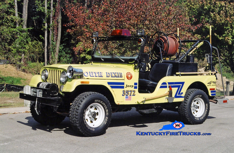 <center> RETIRED <br> South Dixie  Brush 3572 <br> 1974 Jeep CJ-6 4x4 125/100  <br> Kent Parrish photo </center>