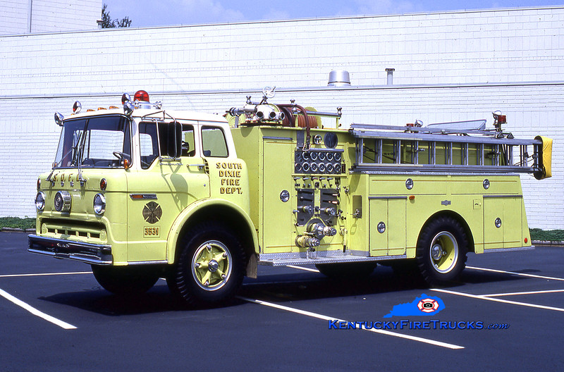 RETIRED<br /> South DIxie Engine 3531<br /> x-Engine 3530<br /> 1973 Ford C/Pirsch 1000/750<br /> Kent Parrish collection
